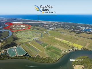 293.6 HA adjacent to and parallel to Sunshine Coast International Airport